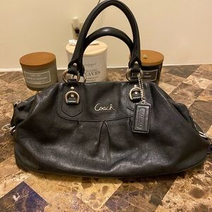 Coach Leather bag with attachable strap